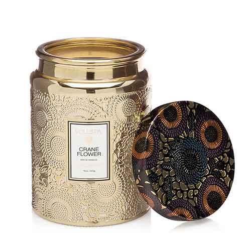 Voluspa ボルスパ ジャポニカ グラスジャーキャンドル L クレーンフラワー JAPONICA Glass jar Candle CRANE FLOWER◆ホームフレグランス/ろうそく/ルーム/芳香/アロマ/ギフト/プレゼント/香り/癒し/リラックス