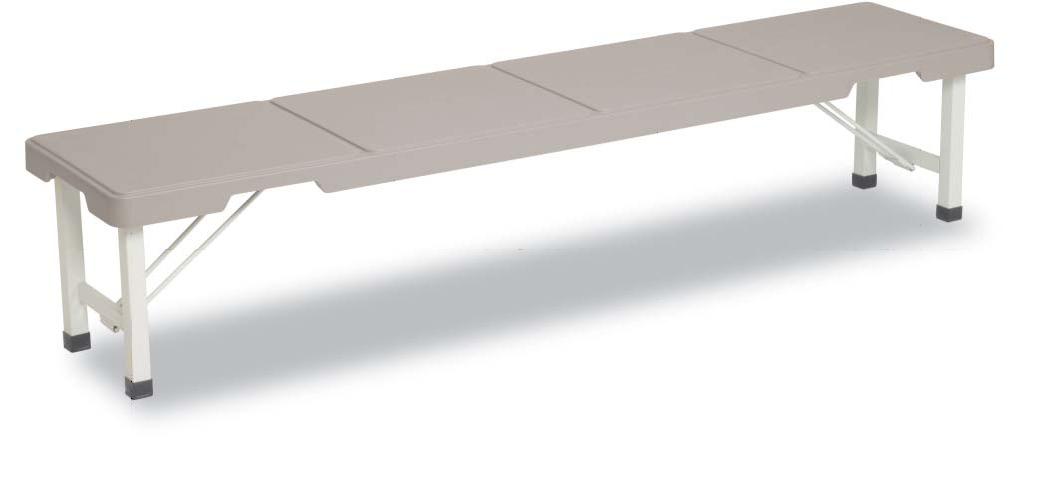 スタッキングブローベンチ1800(グレー)BC-305-518~テラモト~『樹脂製ベンチ』【代引き不可】