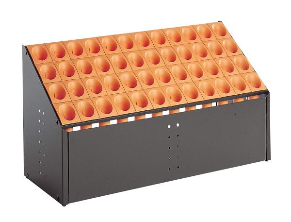 オブリークアーバンC48(48本立)オレンジUB-285-248-7~テラモト~傘立内部を見せない前面パネルタイプ