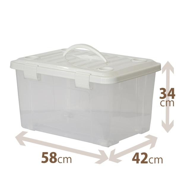 天馬 片手で運べるフタ付収納ボックス 天馬 プロフィックス フリーボックス55 ハンドル付プロフィックスシリーズ