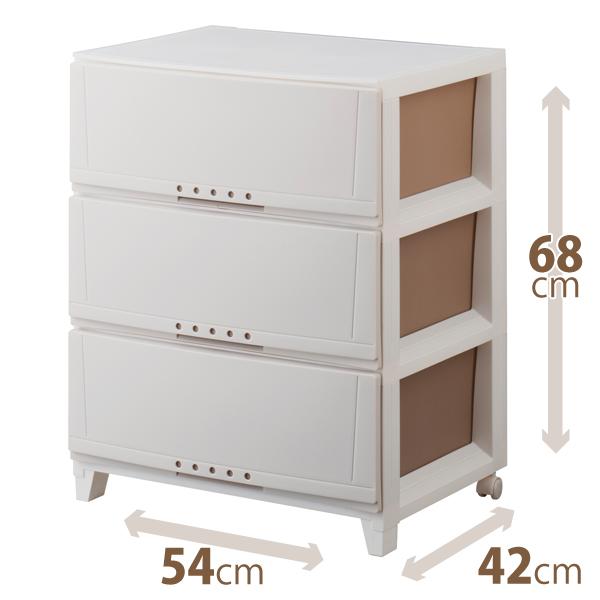 幅が54cm ワイドになって新登場インテリア性の高いリーズナブルな室内収納ケース 全品送料無料 天馬 ルームケース 大人気 カプチーノプロフィックスシリーズ 5403