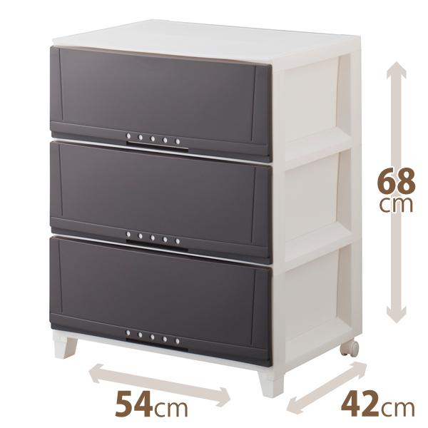 安心の定価販売 特別セール品 幅が54cm ワイドになって新登場インテリア性の高いリーズナブルな室内収納ケース 天馬 5403 ルームケース ブラウンプロフィックスシリーズ