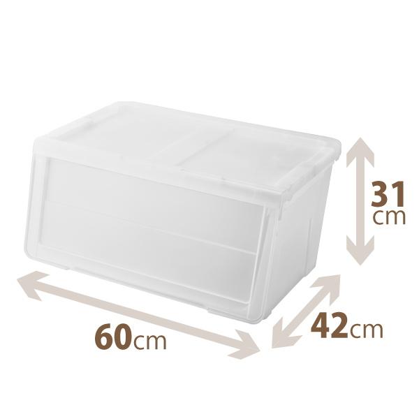 カバのような大きな口 楽々出し入れ収納ボックス 70%OFFアウトレット 天馬 定番 プロフィックス カバコワイドM クリア プロフィックスシリーズ