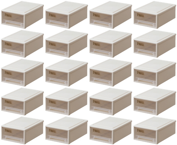 【クーポン対象品】天馬  フィッツケース(プチ)『お買い得20個セット』収納ケースといえばFitsケース。リビング収納シリーズ!