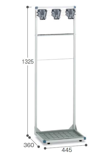【最大1000円割引クーポン発行中】コアラコンパクトハンガー(3本掛)CE-492-013-0~テラモト~『モップハンガー』『小型常設タイプ』