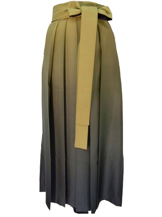 AROVEINA(アロヴィーナ) 卒業式 袴単品 【レンタル】両面ぼかし袴-黄緑[は-4] 成人式 レンタル!【店頭受取対応商品】 女性用