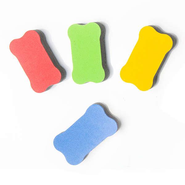 大 持ちやすい骨型 大きなサイズで消しやすい 大放出セール 磁石内蔵で白板にしっかりくっつく 磁石入りくっつくホワイトボード用イレーサー 激安セール 白板消し 磁石 カラフル イレーザー 手にフィットするサイズで消しやすい
