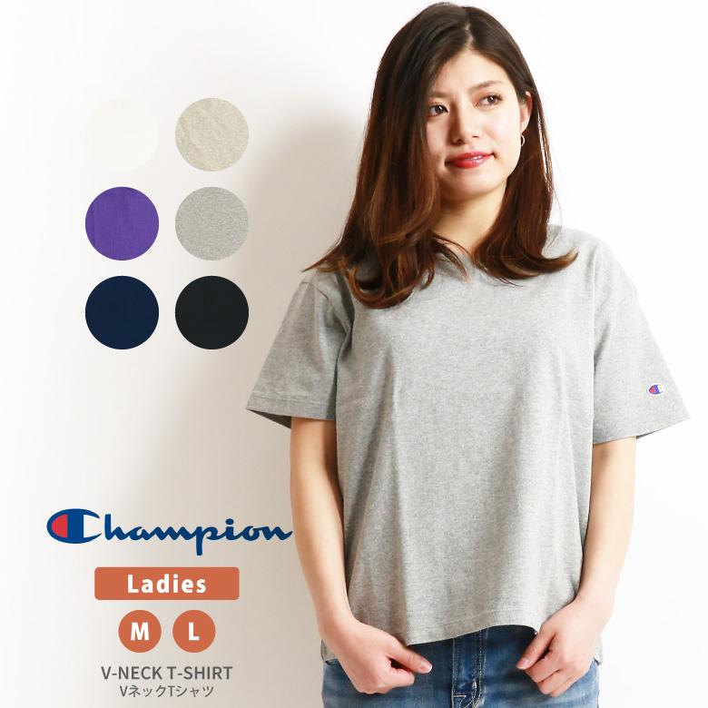 01ece746 ARROWHEAD: Champion (champion) V neck T-shirt short sleeves cut-and ...