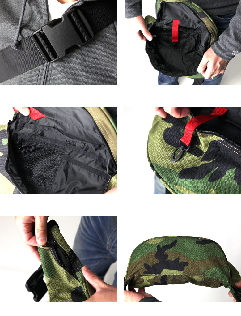 KELTY( Kelty) vintage mini-Fannie camouflage whole pattern camouflage body back waist porch hips bag bum-bag men gap Dis OUTDOOR man and woman combined use MINI FANNY