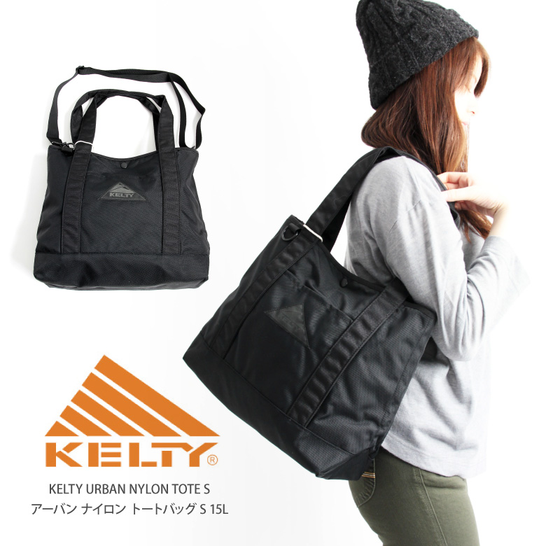 Take Kelty Tote Bag Shoulder Slant 2way Urban Oar Black Line Lightweight Large Capacity Man And Woman Combined Use Lady S Men 2592096