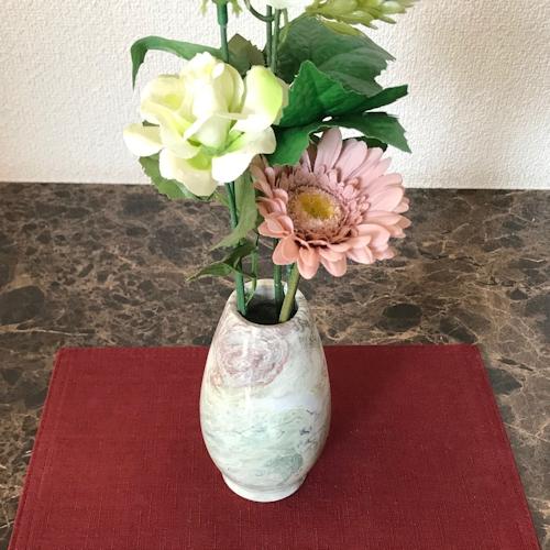 【母の日】【花瓶】 おしゃれ 一輪挿し ベージュ オレンジ グレー マーブル インテリア大理石 石 天然 アンティーク 珍しい 送料無料 プレゼント 贈り物 ギフト