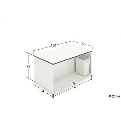作荷台 サッカー台 レジ台 カウンター スーパーマーケット 両面型 幅150x奥行90x高さ72cm