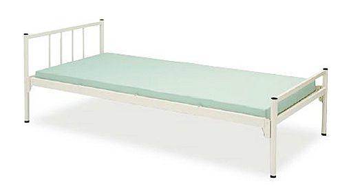 スチール1段ベッド マットレスセット販売 IJBS-101M シンプル 明るいホワイト色 診察台にも合います 送料別途商品