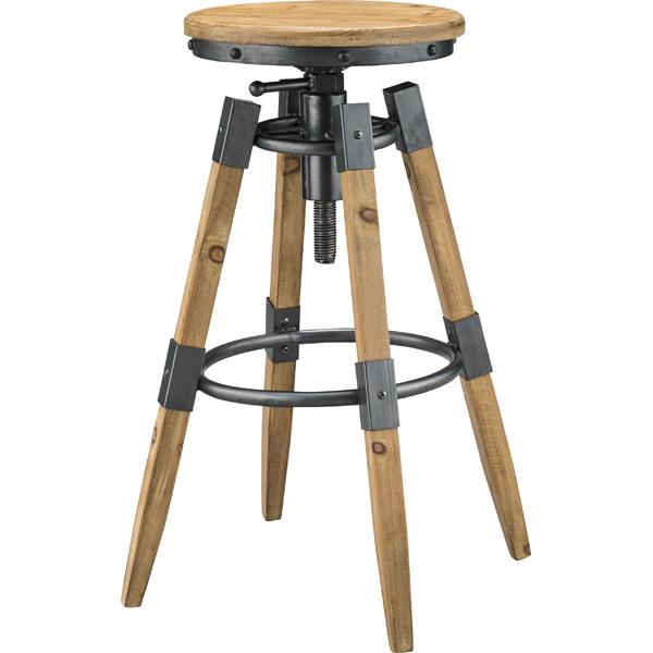 椅子 チェア スチール カウンターチェア ハイスツール 天然木 高さ調整 回転 デザイン性 安い おすすめ おしゃれ かっこいい 杉 ラッカー塗装 昇降機能