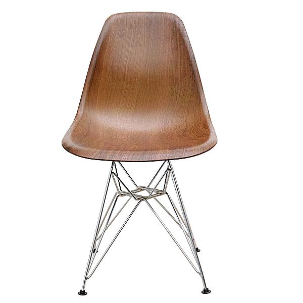 椅子 チェア ダイニング イームズ DSR シェルサイドチェア 木目仕様 PP ポリプロピレン ミッドセンチュリー クロームメッキ ロッドワイヤー リプロダクト
