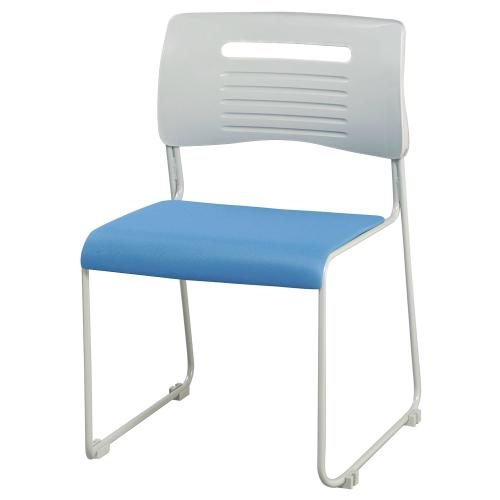 スタッキングチェア スタックチェア ミーティングチェア 会議チェア オフィスチェア 食堂用チェア 座面布張り 取っ手付き 同色4脚セット販売