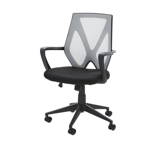 チェア OAチェア PCチェア 肘付き オフィスチェア 固定肘 ガス昇降 メッシュ ロッキング おしゃれ メッシュ ブラック ホワイト おしゃれ かっこいい 座り心地