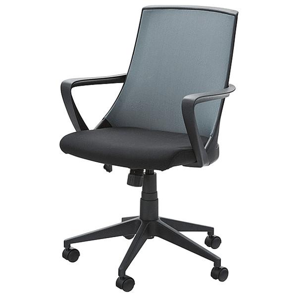 チェア OAチェア PCチェア 肘付き オフィスチェア 固定肘 ガス昇降 おしゃれ ブラック ブルー おしゃれ かっこいい 座り心地