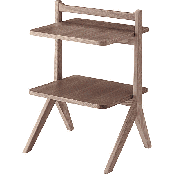 テーブル サイドテーブル 木製 ソファーサイド ベッドサイド リビング ダイニング 幅45 二段 天然木 完成品 持ち運び おしゃれ 北欧 かっこいい 安い おすすめ