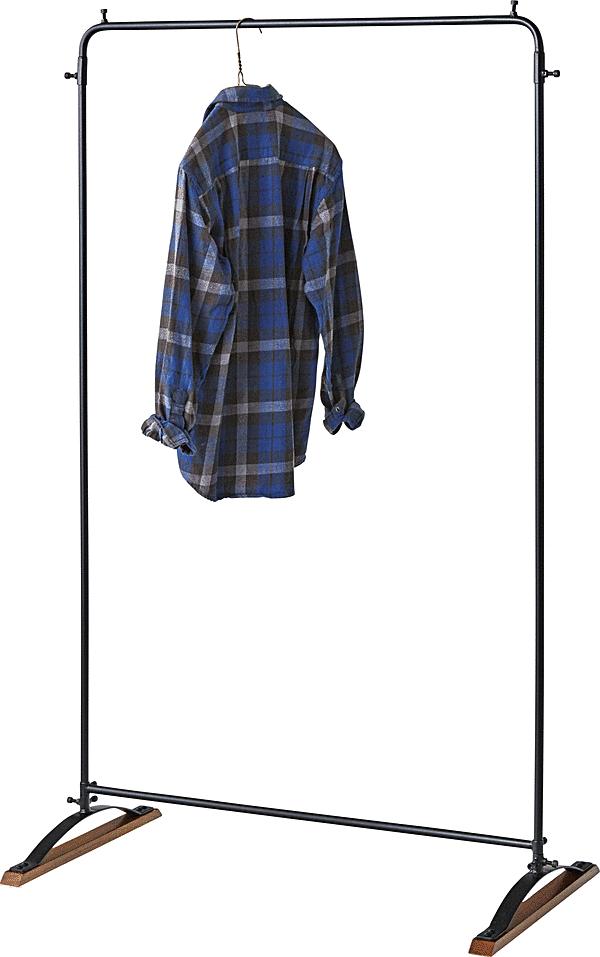 コートハンガー ハンガーラック 洋服掛け おしゃれ インテリア 木製 スチール かっこいい 頑丈 丈夫 アジャスター