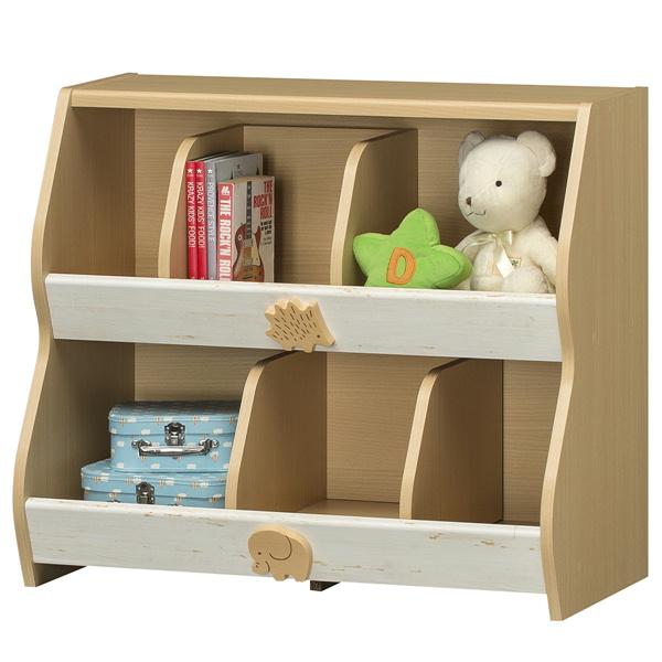 おもちゃラック SILAK-7080R 玩具入れ 北欧テイスト かわいい 組立商品 送料無料