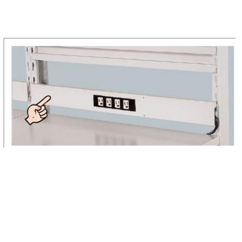 ラインテーブル オプション コンセントバー 幅120cm 送料別途商品 電源コンセント4個口