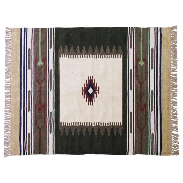 キリム ラグ おしゃれ カーペット 敷物 オルテガ ネイティブ柄 インテリア 230×170 TTR-107A 東谷