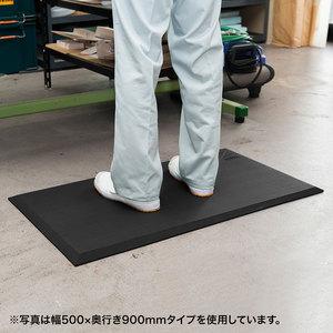 疲労軽減マット 作業マット 冷え防止 幅50cm奥行90cm厚さ1.7cm クッションマット 耐水 耐油 耐菌