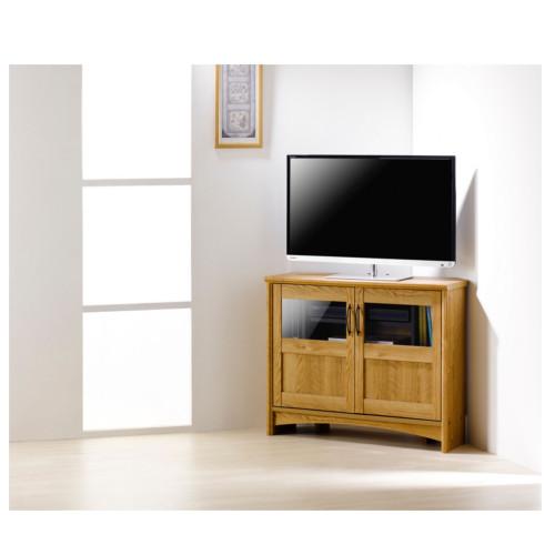 ラック コーナー TV台 棚 おしゃれ コーナーラック 安い アーリーアメリカン カントリー調 収納 リビング 木製 ブラウン かっこいい おすすめ グレース
