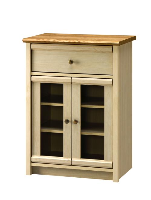 キャビネット 棚 キッチン 大人 フレンチ カウンター おしゃれ かわいい コンパクト 北欧 幅60cm 天板 ホワイト ミルフィー