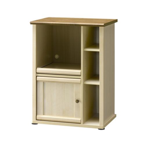 キッチンカウンター 棚 キッチン 大人 フレンチ カウンター おしゃれ かわいい コンパクト 北欧 幅60cm 天板 ホワイト ミルフィー