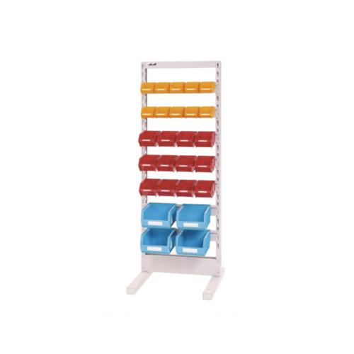 パーツ収納 パーツハンガー 間口60cm 収納箱 小10個・中10個・大4個付き 片面型 固定式