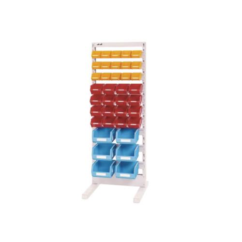 パーツ収納 パーツハンガー 間口60cm 収納箱 小15個・中16個・大6個付き 片面型 固定式