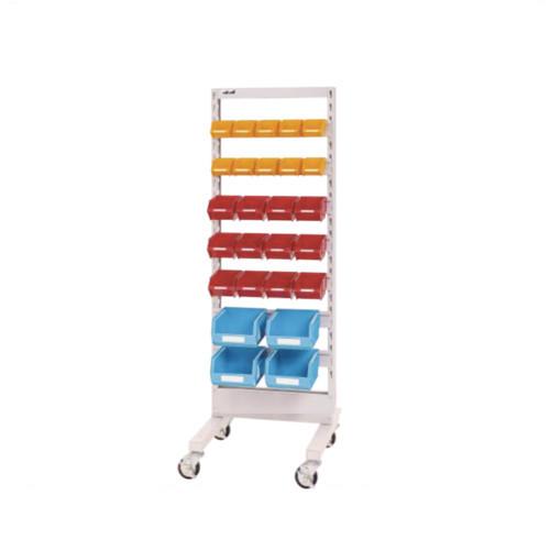 パーツ収納 パーツハンガー 間口60cm 収納箱 小10個・中12個・大4個付き 片面型 移動式