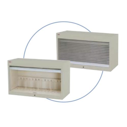 シャッター付ファイル収納庫 段数1段 書類整理庫 H50cmタイプ 仕切板3枚付 上置き専用