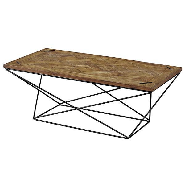 テーブル センターテーブル 重厚感 リビングテーブル おしゃれ かっこいい 存在感 西海岸 アイアン 天然木