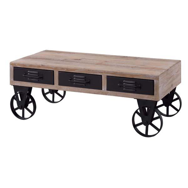 テーブル 引出し付 センターテーブル おしゃれ トロリーテーブル リビングテーブル ローテーブル 車輪付 座卓 家具 インテリア