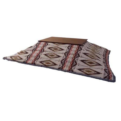 こたつ布団 コタツ用布団 長方形 オルテガ調 おしゃれ かわいい かっこいい ポリエステル アクリル 薄掛け W190xD230 天板120x80以下用 北欧