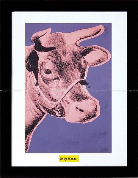 アートパネル アートポスター 絵画 インテリア ポスター タペストリー 壁掛け アートフレーム ウォールアート アートボード ポップアート インテリアアート モノトーン モノクロ アンティーク シンプル 北欧 花 おしゃれアンディー ウォーホル Cow(pink&purple)