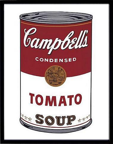 アートパネル アートポスター 絵画 インテリア ポスター タペストリー 壁掛け アートフレーム ウォールアート アートボード ポップアート インテリアアート モノトーン モノクロ アンティーク シンプル 北欧 花 おしゃれアンディー ウォーホル Campbell's Soup I Tomato