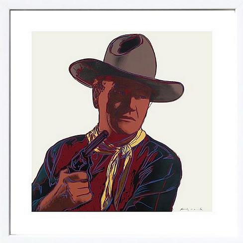 アートパネル アートポスター 絵画 インテリア ポスター タペストリー 壁掛け アートフレーム ウォールアート アートボード ポップアート インテリアアート モノトーン アンティーク シンプル 北欧 花アンディー ウォーホル Cowboys and Indians: John Wayne