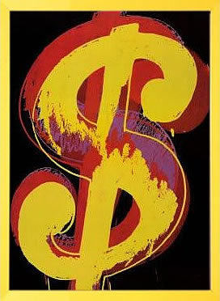 【絵画 アートパネル 壁掛け 専門店】アートフレーム/アートポスター ポップアート アンディー・ウォーホル Dollar Sign(アートパネル アートフレーム アートポスター 北欧 絵画 インテリア ポスター 壁掛け)