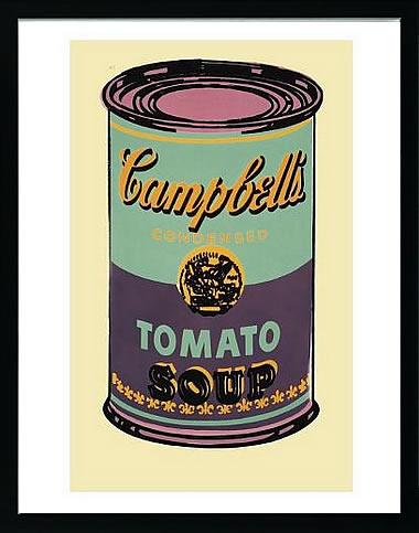 アートパネル アートポスター 絵画 インテリア ポスター タペストリー 壁掛け アートフレーム ウォールアート アートボード ポップアート インテリアアート モノトーン モノクロ アンティーク シンプル 北欧 花 おしゃれアンディー ウォーホル Campbell's Soup Can,1965