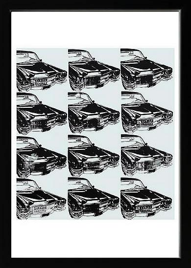 アートパネル アートポスター 絵画 インテリア ポスター タペストリー 壁掛け アートフレーム ウォールアート アートボード ポップアート インテリアアート モノトーン モノクロ アンティーク シンプル 北欧 花 おしゃれアンディー ウォーホル Twelve Cars, 1962