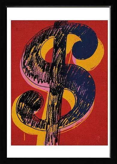 アートパネル アートポスター 絵画 インテリア ポスター タペストリー 壁掛け アートフレーム ウォールアート アートボード ポップアート インテリアアート モノトーン モノクロ アンティーク シンプル 北欧 花 おしゃれアンディー ウォーホル Dollar Sign, c.1981