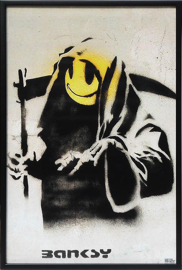 アートパネル アートポスター 絵画 インテリア ポスター タペストリー 壁掛け アートフレーム ウォールアート アートボード ポップアート モノトーン モノクロ デザイナーズ アンティーク シンプル モダン 北欧 おしゃれバンクシー The Reaper
