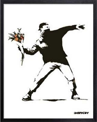 【送料無料】【ギフトラッピング無料】世界で最も注目されているストリート・アーティスト バンクシー アートパネル アートポスター 絵画 インテリア ポスター タペストリー 壁掛け アートフレーム ウォールアート アートボード ポップアート モノトーン モノクロ デザイナーズ アンティーク シンプル モダン 北欧 おしゃれバンクシー Flower Bomber