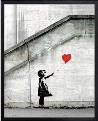 アートパネル アートポスター 絵画 インテリア ポスター タペストリー 壁掛け アートフレーム ウォールアート アートボード ポップアート モノトーン モノクロ デザイナーズ アンティーク シンプル モダン 北欧 おしゃれバンクシー Red Balloon