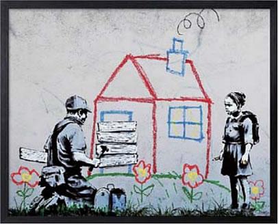 アートパネル アートポスター 絵画 インテリア ポスター タペストリー 壁掛け アートフレーム ウォールアート アートボード ポップアート モノトーン モノクロ デザイナーズ アンティーク シンプル モダン 北欧 おしゃれバンクシー Playhouse