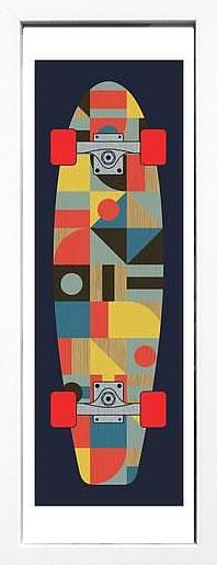 アートパネル アートポスター 絵画 インテリア ポスター タペストリー 壁掛け アートフレーム ウォールアート アートボード モダンアート ミッドセンチュリー アンティーク シンプル 北欧 モノトーン おしゃれバウハウス Skateboard